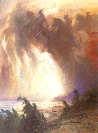 Valkyries Ride The Storm, Asatru Gods And Heroes