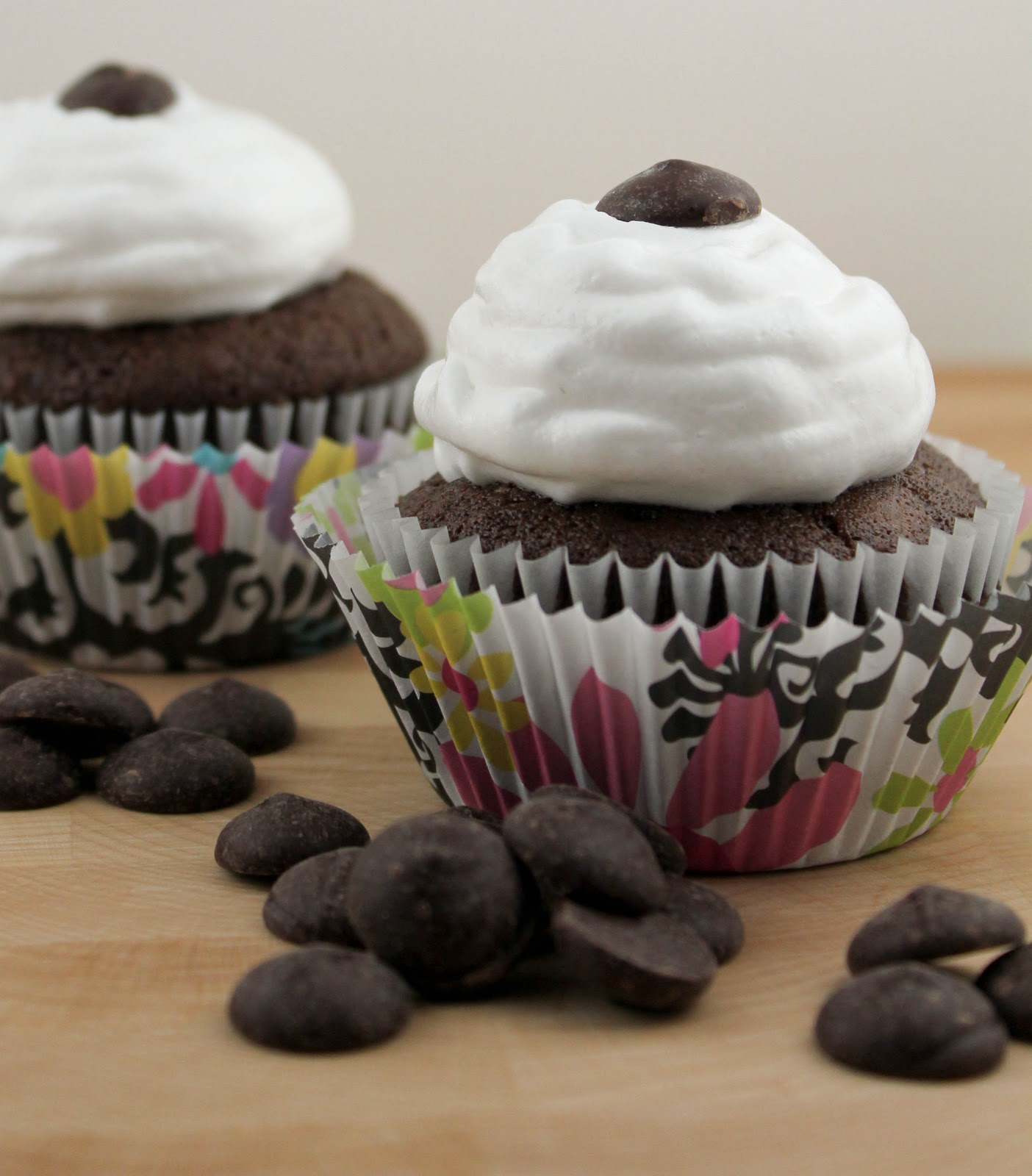 Chocolate Ganache-Filled Cupcakes~ - That Skinny Chick Can Bake