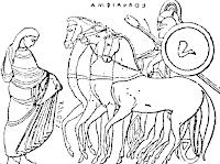 Αμφιάραος, ένας από τους επιφανέστερους Έλληνες ήρωες.γιος του Απόλλωνα.