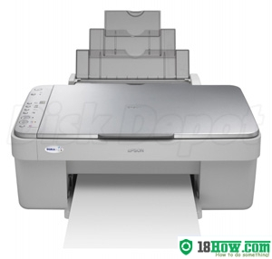 How to reset flashing lights for Epson CX3600 printer