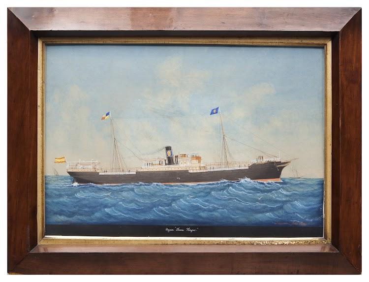 Vapor JUAN FORGAS. Acuarela de Pineda. Museu Maritim de Barcelona. Nuestro agradecimiento a Silvia Dahl.jpg