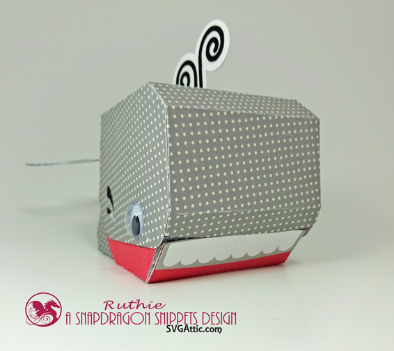 Whale 3d Hinged Box  - SnapDragon Snippets - Ruthie Lopez 3