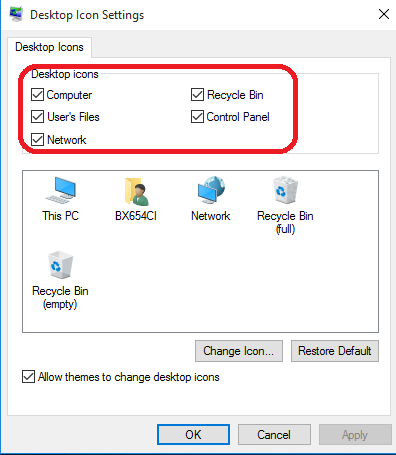 This PC desktop setting