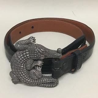 Sterling Silver & Lizard Belt