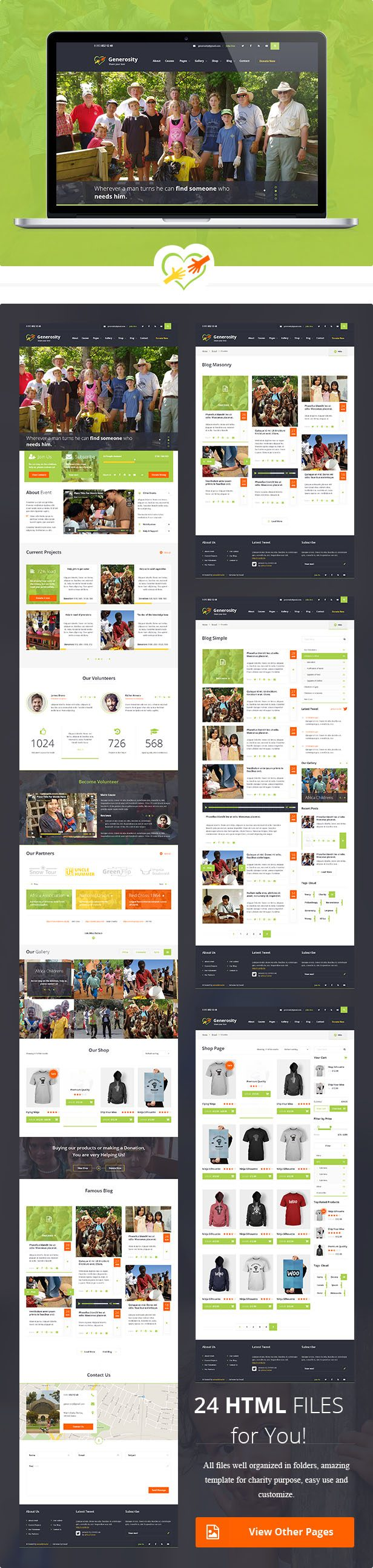 themeforest Charity/Nonprofit HTML Template