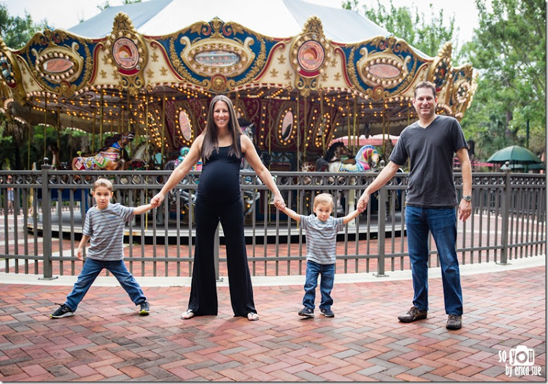 Sugar Sand Carousel Maternity Photo-