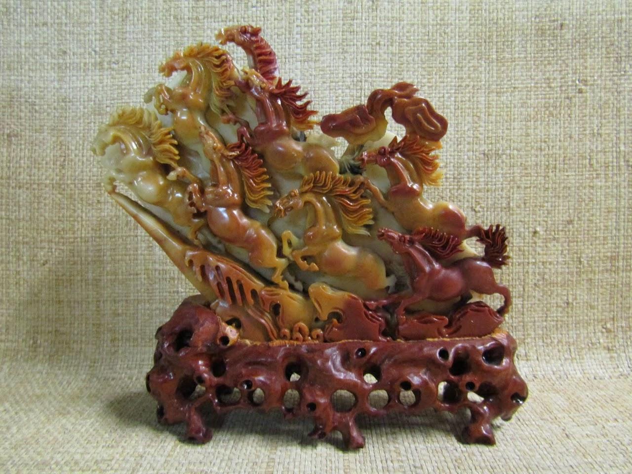 Stone Horses Sculpture