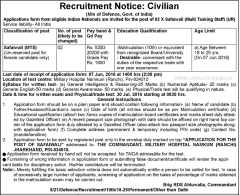 Military Hospital Namkum Ranchi Recruitment 2016 indgovtjobs