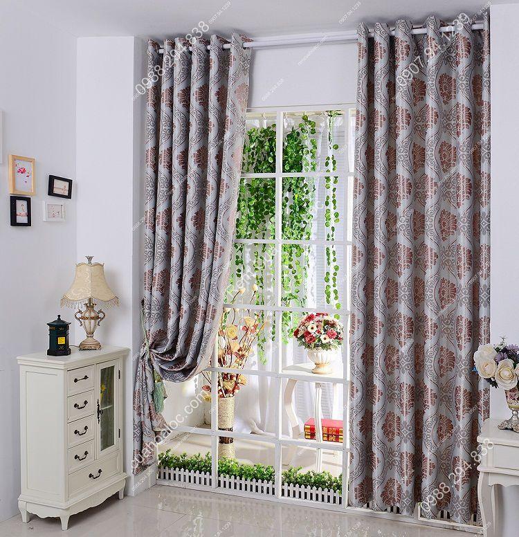 Rèm cửa sổ đẹp hà nội họa tiết phương đông 4