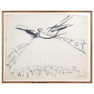 'Woodstock' Signed Wash Drawing