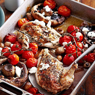 Roast Chicken and Balsamic Mushrooms