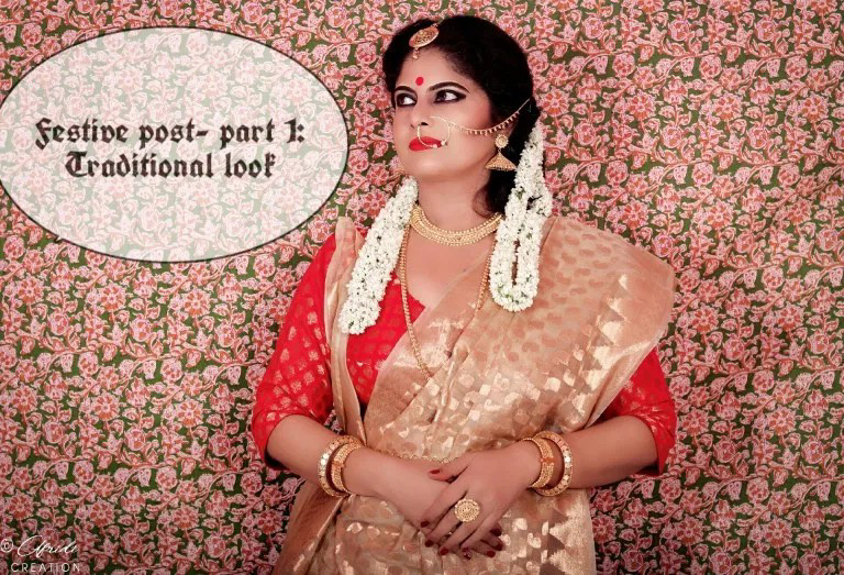 Traditional look, saree, styling, fashion