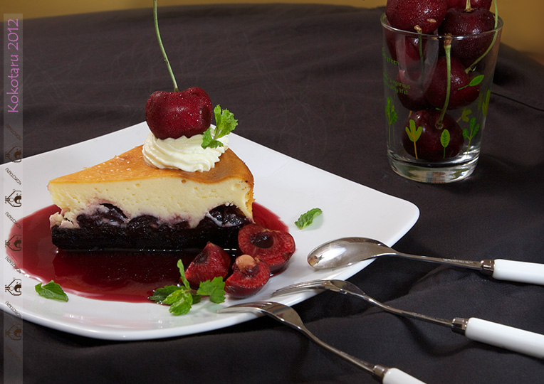 brownie cherry cheesecake