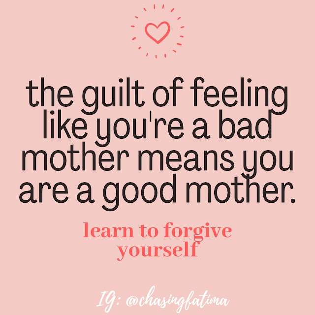 The guilt of feeling you're a bad mother means you're a good mother