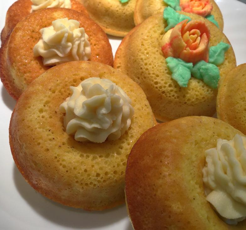 Frosted Vanilla Custard Donuts
