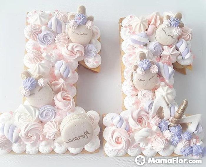 tortas con números 16
