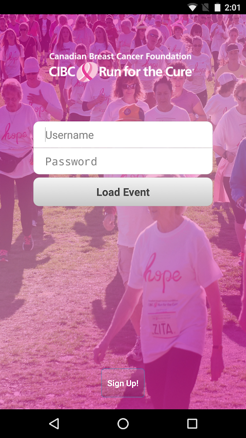 CIBC Run for the Cure- screenshot