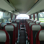 Het interieur van de Setra van Besseling bus 39