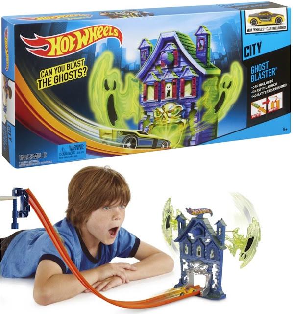 Đồ chơi Mô hình Giải cứu phi cơ Hot Wheels City Track Set X2604 căn nhà ma