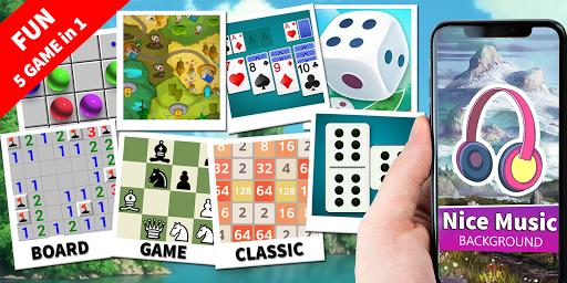 Board Game Classic: Domino, Solitaire, 2048, Chess 4 screenshots 1