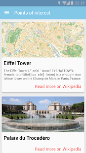 WikiJourney app- screenshot thumbnail