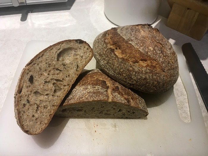 65 Slow Bulk Fermentation Sourdough Cut 6-1-19