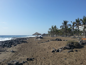 Photo: los pocilos, the black beach in front of our hotel