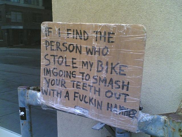 tocatchabikethief.com to catch a bike thief