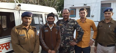 सुरवाया प्रभारी दिनेश नरवरिया ने एक स्थाई बारंटी को पकड़ा   Surwaya News
