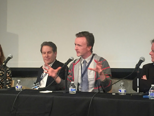 Actor Paul Cram heatedly gestures with hands at MSPIFF