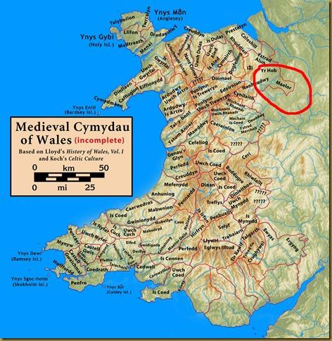 Wales.medieval.cymydau