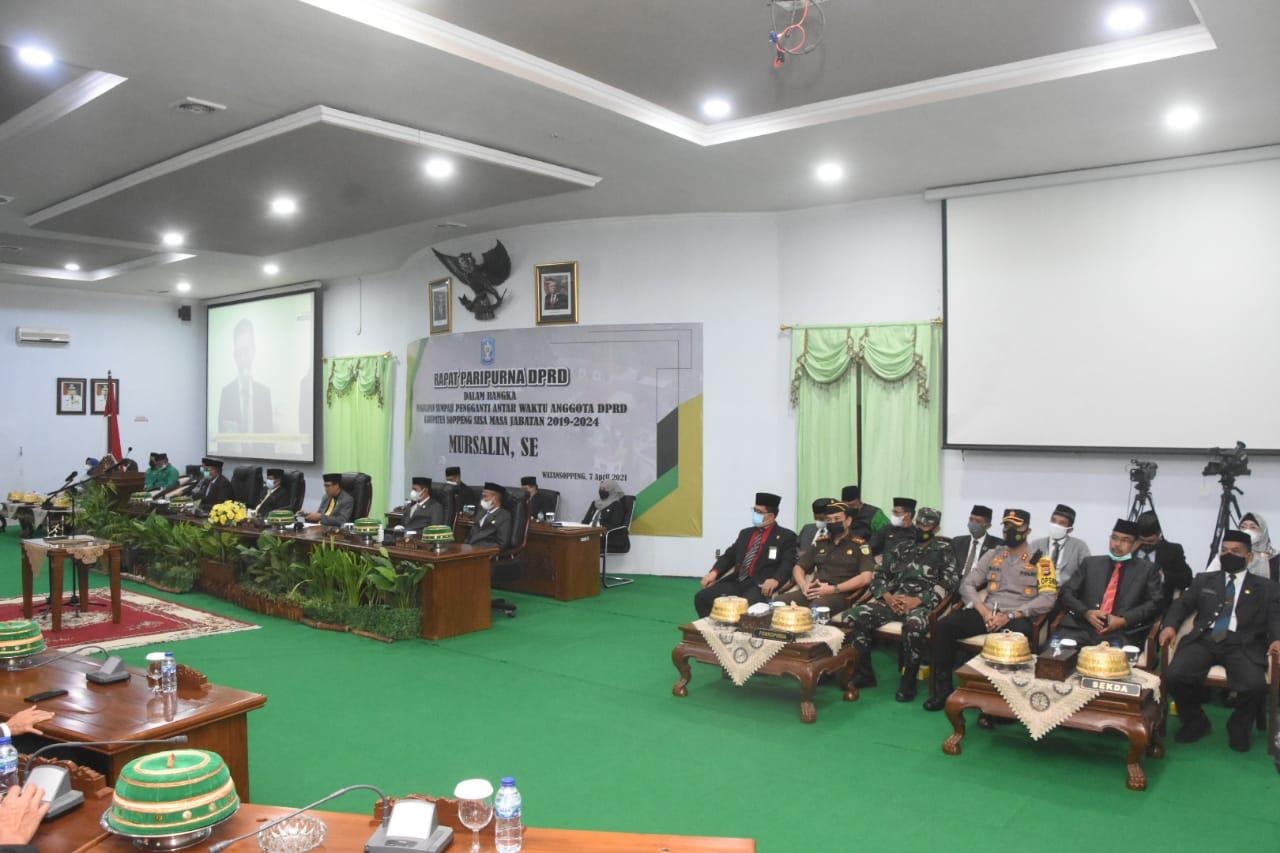 Kapolres Soppeng Hadiri Pengambilan Sumpah dan Jabatan PAW Anggota DPRD Kab. Soppeng