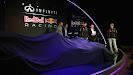Adrian Newey, Christian Horner, Mark Webber & Sebastian Vettel unveiling Red Bull RB9