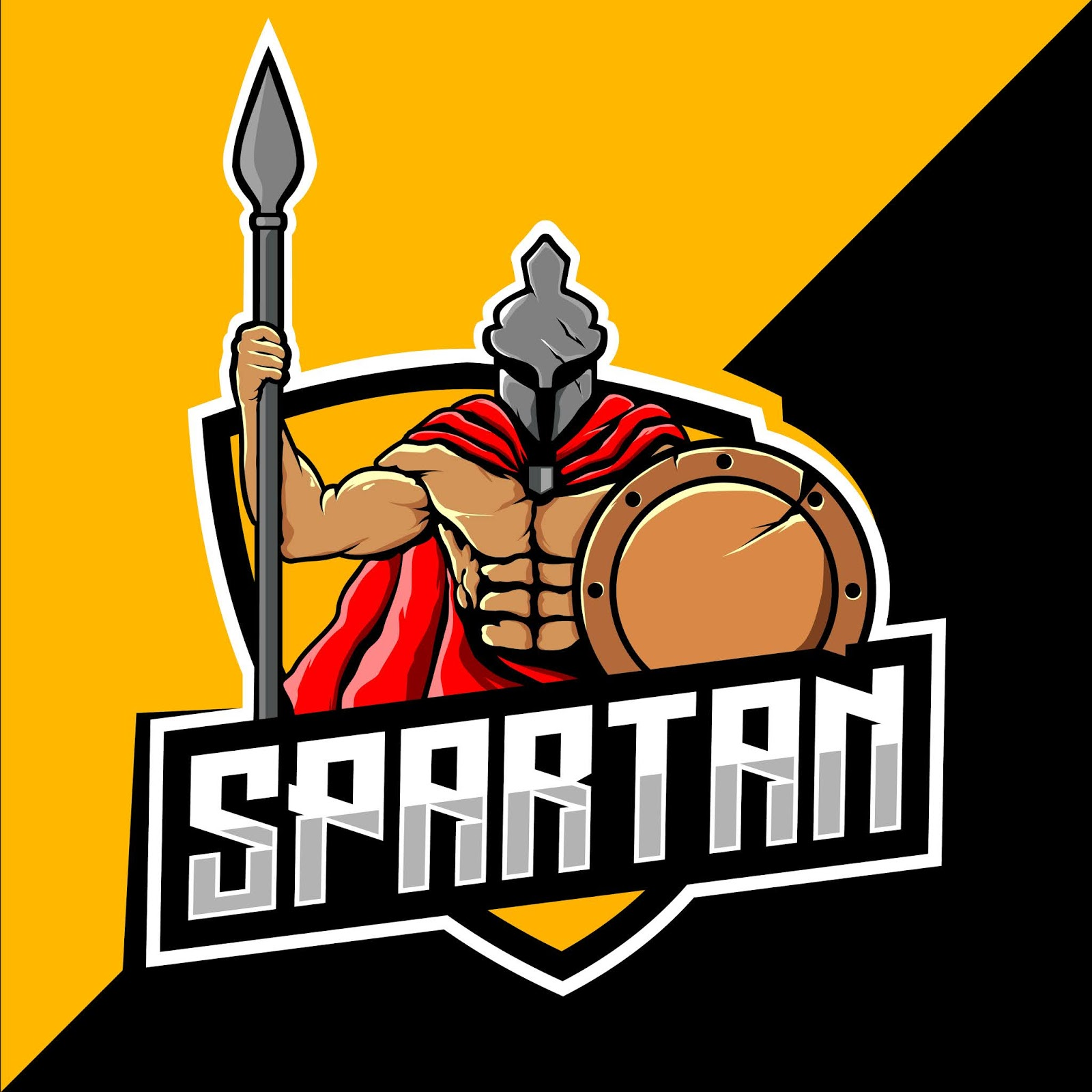 Spartan Warrior Mascot Esport Logo Free Download Vector CDR, AI, EPS and PNG Formats