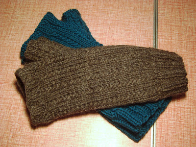 Vertical Weave Fingerless Mittens