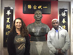 Lisa Morgan with Sifu Garry Mckenzie at the Yip Man Tong museum.