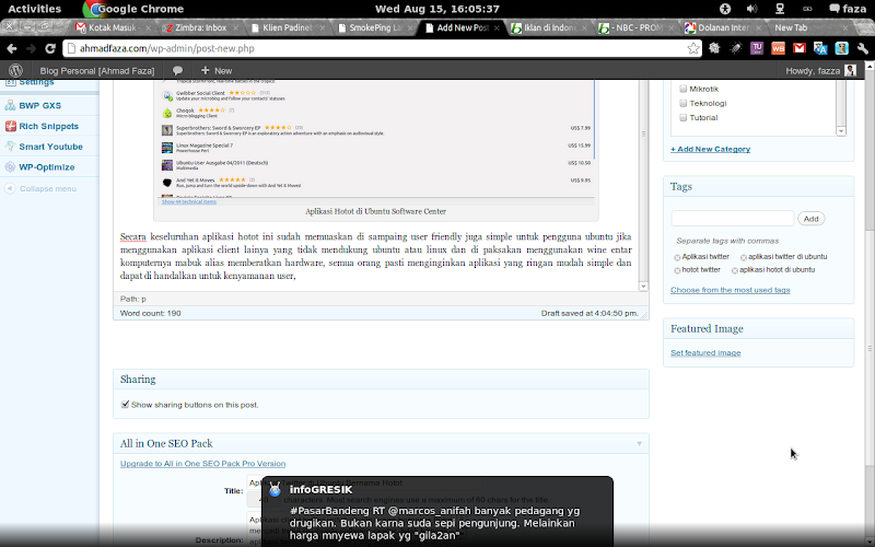 aplikasi klient twitter hotot di ubuntu notifikasi