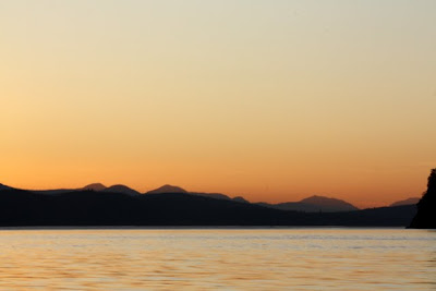 Sunset in the Gulf Islands in British Columbia Canada