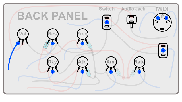 DIY Synth build guide panel connections 1