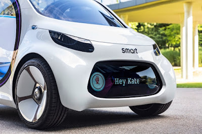 Vision EQ Fortwo autonomous concept car by Smart Daimler-Mercedes-Benz