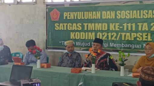 Warga Desa Siuhom Jadi Peserta Giat  Penyuluhan Agama di  TMMD Kodim Tapsel
