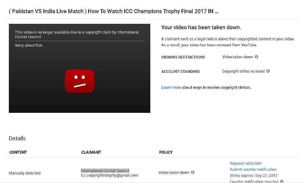 Take down Video - YouTube Ohjeet