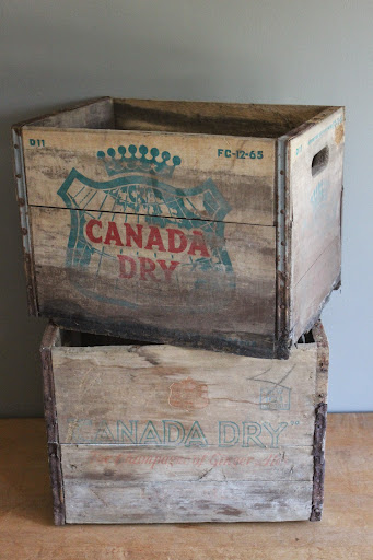 Canada Dry crates available for rent from www.momentarilyyours.com, $4 each.