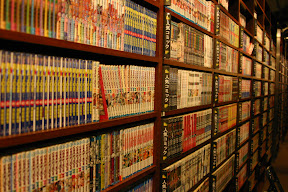 A few animé DVDs in an Internet café, Kyoto