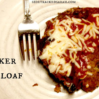 Pizza Meatloaf in the Slow Cooker.