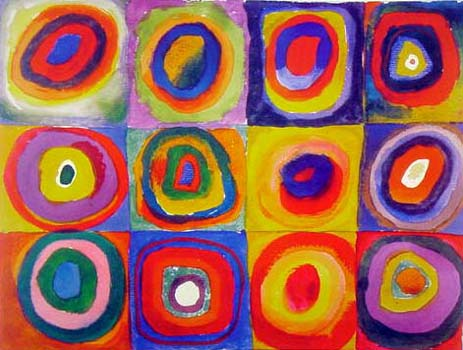 Colour Study: Square and Concentric Circles - Wassily Kandinsky, 1913.