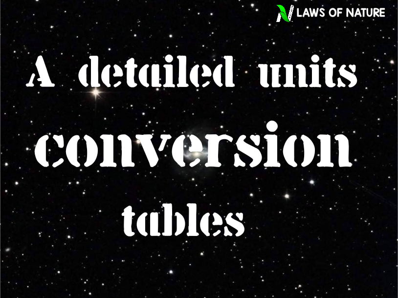 A detailed unit conversion table in Hindi.