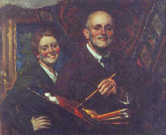 Igor Grabar - Self-portrait with Wife