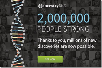 AncestryDNA Reaches Two Million Milestone