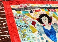 "Marcia quilted my quilt ""Once Upon a Time"" - it's incredible!"
